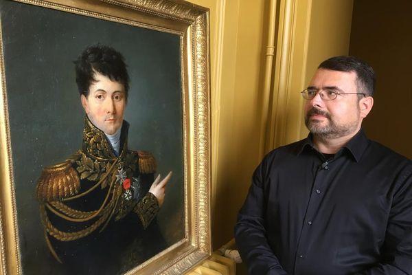 Le général Gudin et son descendant direct, Albéric d'Orléans.
