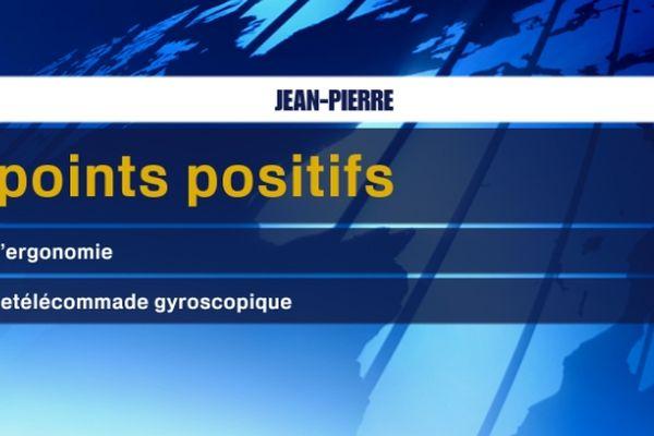 les points positifs de Jean-Pierre