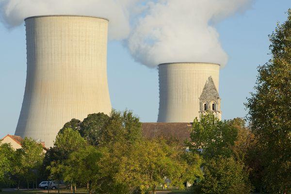 La centrale nucléaire EDF de Civaux dans la Vienne.
