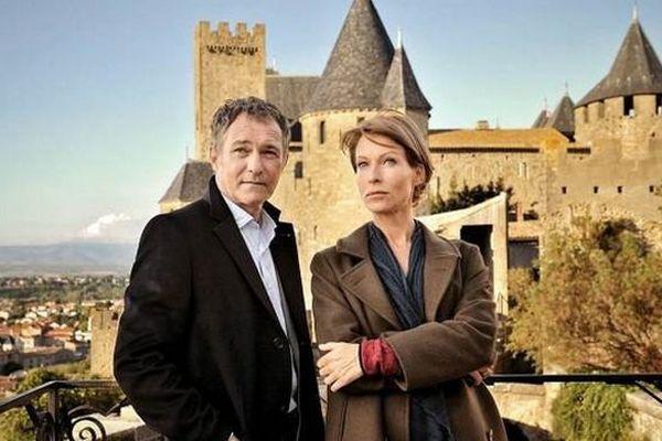 Meurtres à Carcassonne avec Rebecca Hampton et Bruno Wolkowitch, samedi à 20h45 sur France 3.