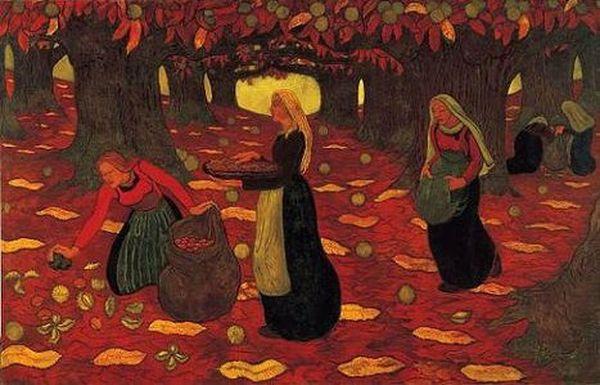 Automne, Les ramasseurs de noisettes (1894) de Georges Lacombe