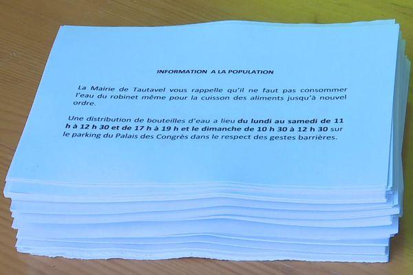 Fiche information pour les habitants de Tautavel.