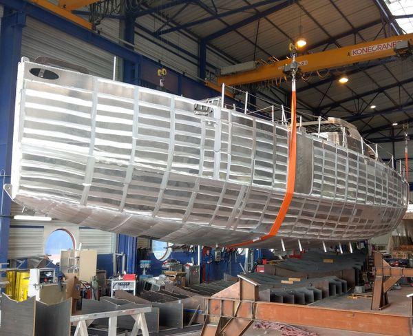 La construction du voilier