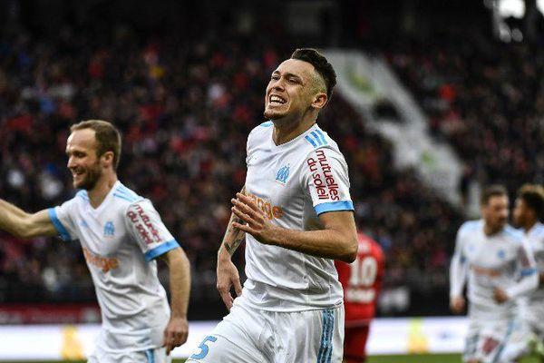 Lucas Ocampos vient de marquer le second but pour les marseillais