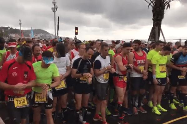 13.3000 personnes sur la ligne de départ à Nice