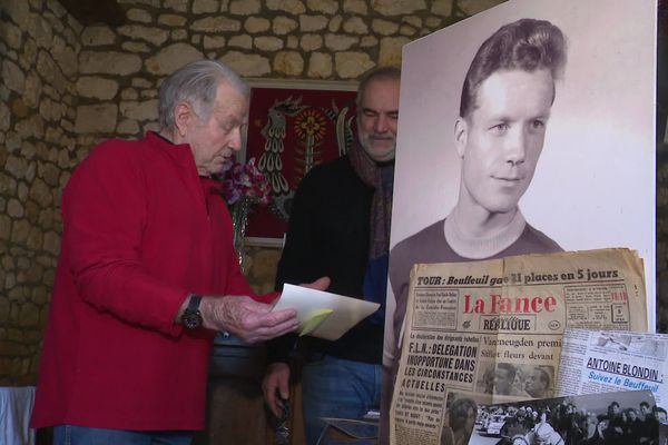 À 85 ans, Pierre Beuffeuil a toujours la passion du vélo.