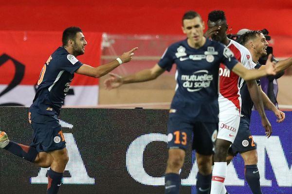 Montpellier a battu l'AS Monaco 2-1 et pointe à la 2e place du classement de ligue 1.