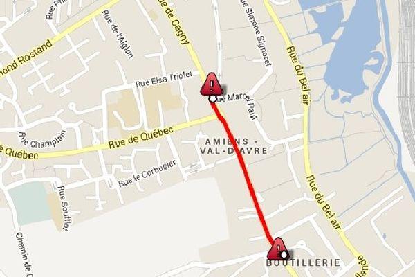 La rue de Cagny à Amiens sera barrée depuis le rond-point Marcel-Paul jusqu'à la rue de la Métaiherie