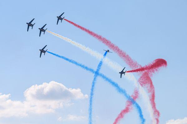 La Patrouille de France a réalisé des tableaux impressionnants