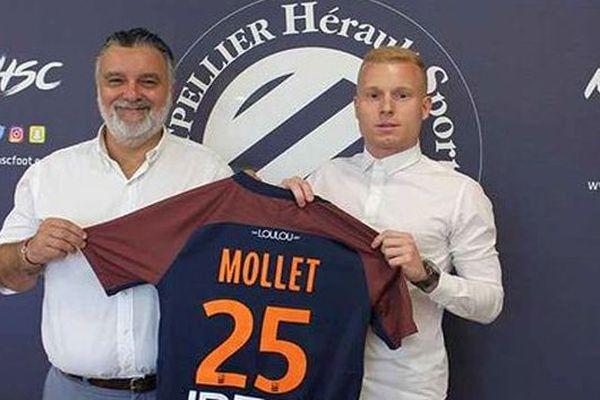 Montpellier - Florent Mollet signe au MHSC - 11 juillet 2018.