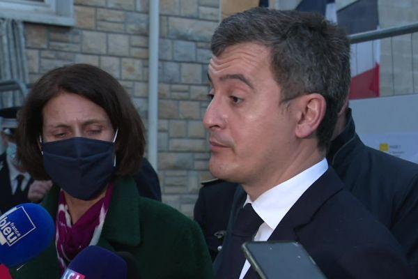 Le ministre de l'Intérieur Gérald Darmanin en visite à Montbéliard