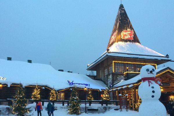 Le village du Père Noël, en Laponie finlandaise.