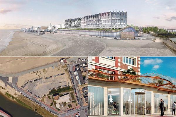 L'ensemble de la construction se trouvera au bout de la digue de Dunkerque, à la place de l'ancienne auberge de jeunesse Vandenabeele et du parking.