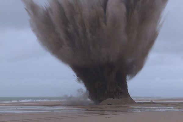 Destruction d'engins explosifs de la Seconde Guerre Mondiale à Wissant