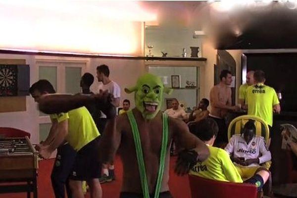 Shrek et croc magnon au menu du Harlem Shake du FC Nantes