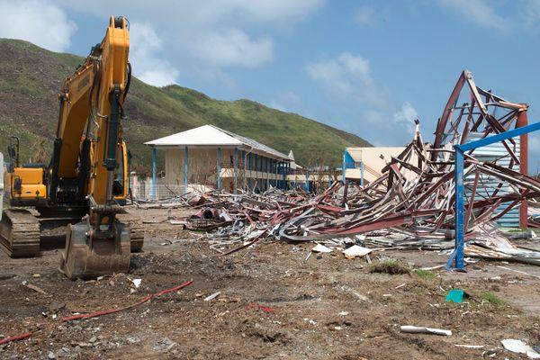 L'île de St Martin a été dévastée par l'ouragan Irma le 6 septembre 2017.