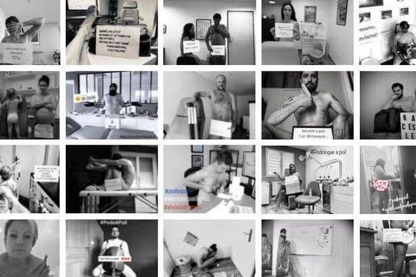 Près de 700 podologues posent nus dans une vidéo postée mercredi 6 mai pour dénoncer les difficultés financières qu'ils rencontrent à quelques jours du déconfinement