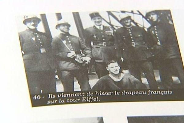 Marcel Conversy, qui a fini sa carrière au centre de secours et d'incendie de Sens, dans l'Yonne, a fait partie d'un commando de pompiers qui a hissé un drapeau français sur la tour Eiffel le 25 août 1944.