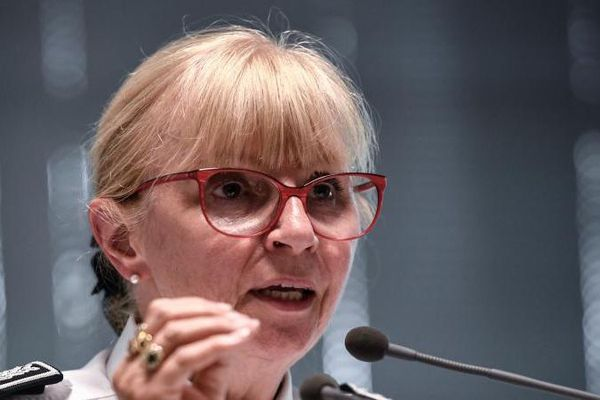 Brigitte Jullien, la directrice de l'IGPN, au ministère de l'Intérieur à Paris, le 13 juin 2019