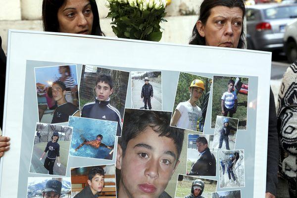 La famille du jeune Antoine Rodirguez tué en 2011.