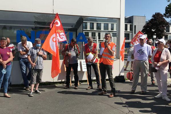Rassemblement à Lannion devant les locaux de Nokia ce 23 juin suite au nouveau plan social