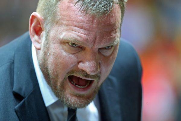 Kyle Milling le coach varois lors du match de basket de Pro A opposant la Sig Strasbourg à Hyères Toulon, à Strasbourg le 10 décembre 2016.