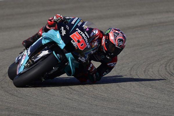 Fabio Quartararo lors des essais libres du Grand Prix d'Espagne vendredi 17 juillet.