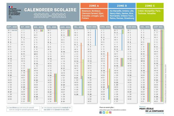 Calendrier Lyon 2021 Académie de Poitiers : voici le calendrier scolaire de l'année