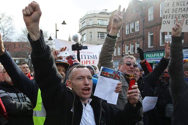 Manifestation Pediga en février 2015 à Newcastle (Angleterre).