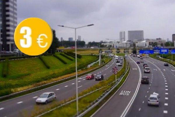 A Rotterdam, certains autombilistes sont payés 3€ s'ils évitent certains tronçons d'autoroute à certaines heures.