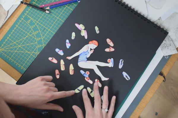 L'artiste nancéienne Sophie Lécuyer réalise une image par jour qu'elle met en ligne sur la toile : c'est son journal de confinement.