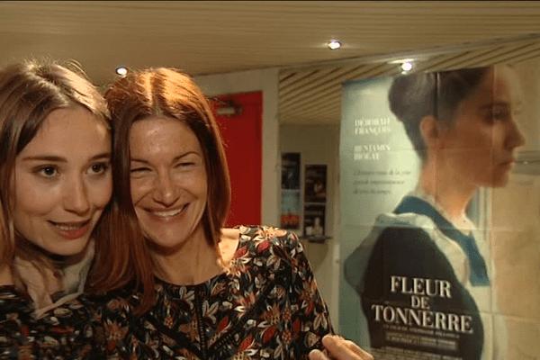 La comédienne Déborah François et la réalisatrice du film Freur de Tonnerre, Stéphanie Pillonca, lors de l'avant-première à Vannes