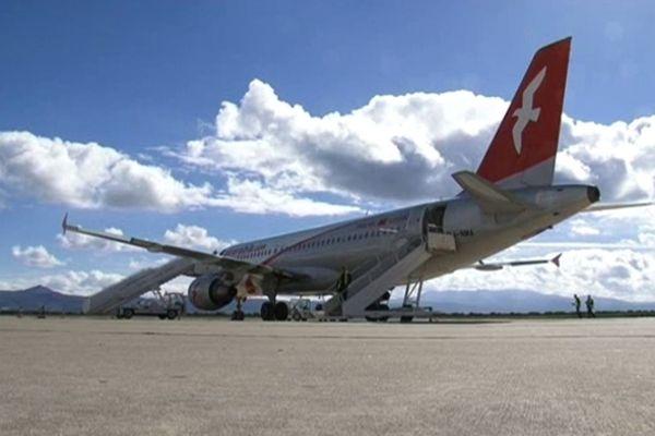 Un avion d'Air Arabia Maroc assurant la liaison Montpellier/Fès/Casablanca/Nador