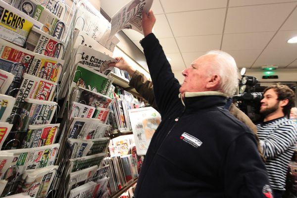 Marchand de journaux avant le confinement