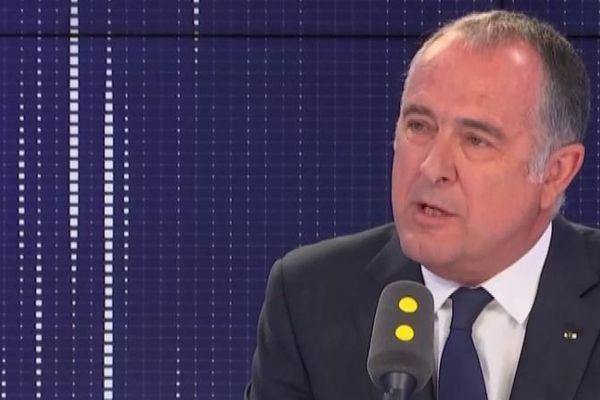 """Didier Guillaume, ministre de l'Agriculture et de l'Alimentation, invité du """"8h30 politique"""", lundi 19 août 2019."""