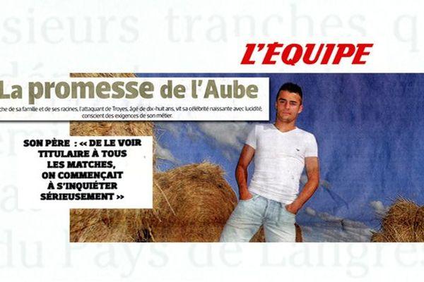 Article de pleine page sur Corentin Jean (Estac - U19) - (page 16 - 08/08/2013)