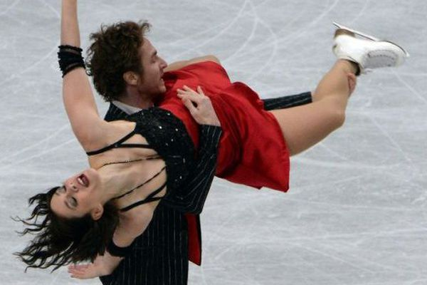 Nathalie Pechalat et Fabian Bourzat le 28 mars 2014 au Japon