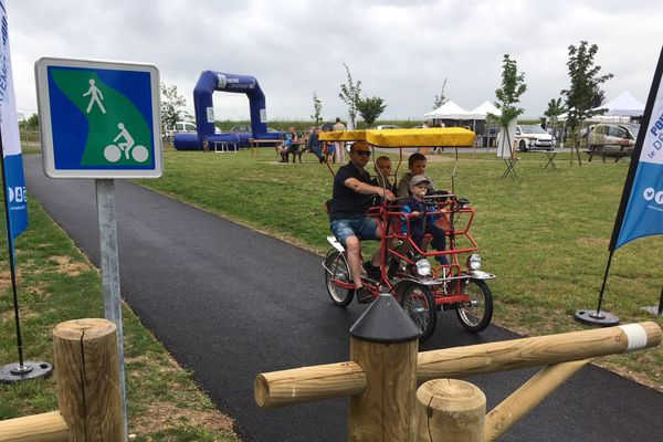 La Voie verte Saint-Yan/Paray-le-Monial a été inaugurée samedi 26 mai 2018.
