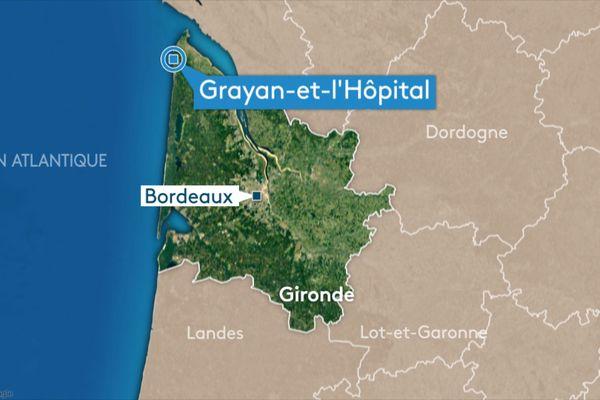 L'ULM s'est écrasé à Grayan-et-l'Hôpital, dans le Médoc, ce vendredi 23 avril dans l'après-midi.