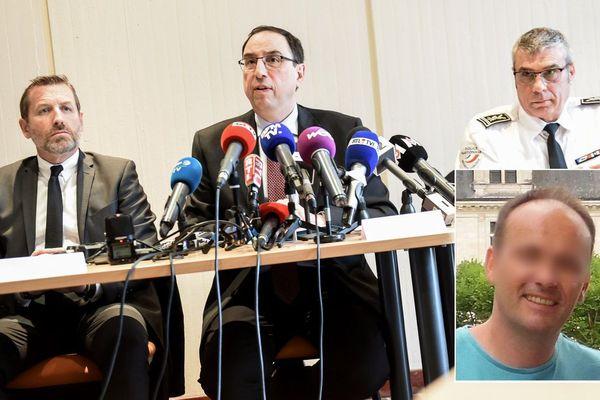 Le procureur de la République de Lille Thierry Pocquet de Haute-Jussé a tenu une conférence de presse ce lundi aux côtés du directeur de la PJ de Lille Romuald Müller (gauche) et du commissaire de police Christian Wulveryck (droite)