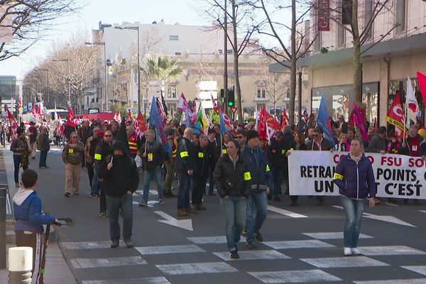 Perpignan - manifestation contre la réforme des retraites - 20 février 2020.