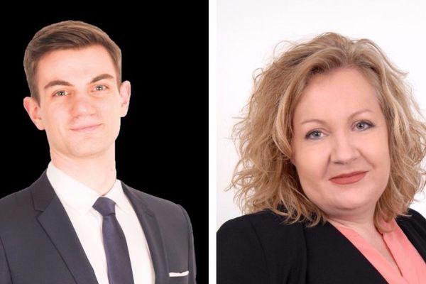 Jean-Raphaël Sandri, candidat FN et Sophie Montel, candidate Les Patriotes pour la législative partielle dans la première circonscription de Belfort