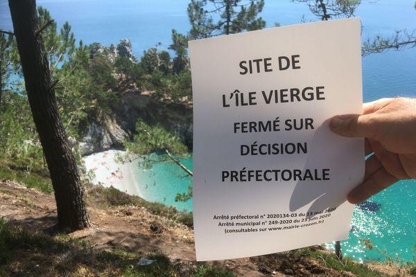 Malgré l'interdiction, la crique de l'Île Vierge reste très fréquentée