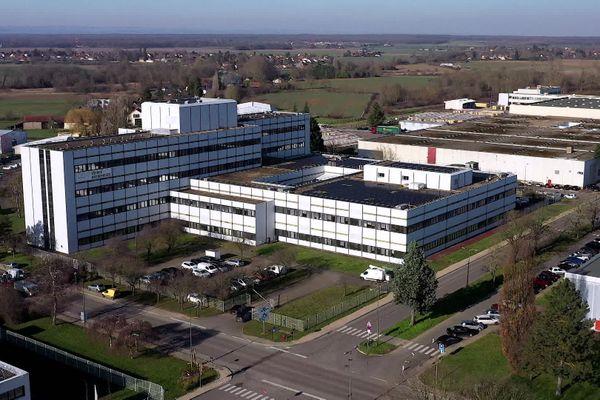 Sur le site de Kodak à Chalon-sur-Saône, voici les bâtiments restants, le parc industriel Saoneor