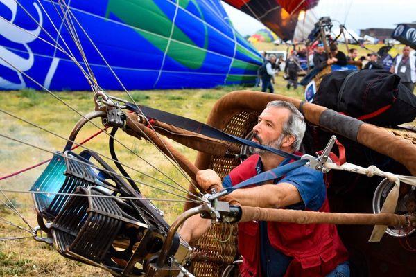 Uwe Schaefer, pilote de montgolfière au Mondial Air Ballons