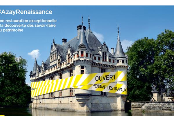 Le château d'Azay-le-Rideau restera ouvert pendant toute la durée des travaux