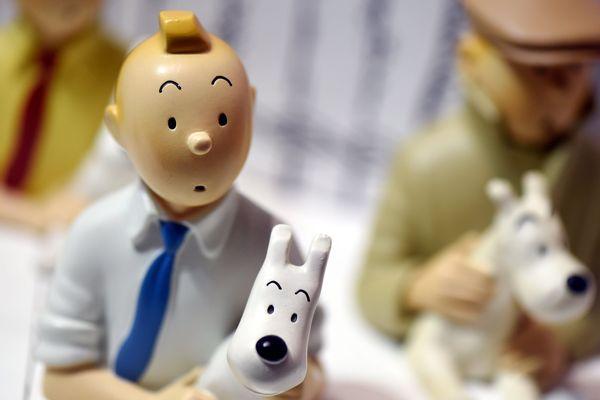 Une figurine de Tintin et Milou