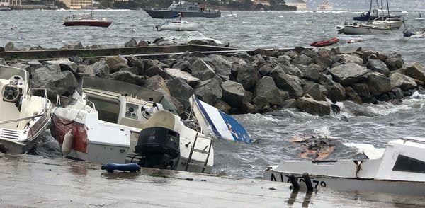 Tempête en Corse en décembre  2018