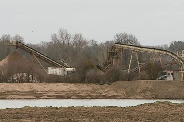 Une carrière de sable à proximité de celle qui pourrait être construite à Herry (Cher). Photo d'illustration.