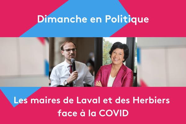 Florian Bercault, le nouveau maire de Laval et Véronique Besse, maire des Herbiers en Vendée.